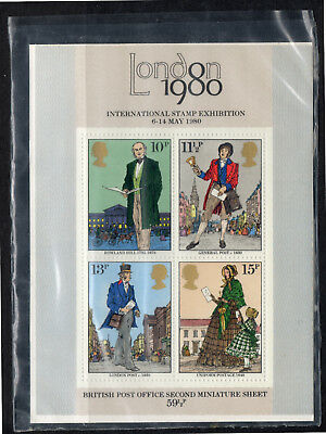 GB Stamps 1979 Death Centenary of Sir Rowland Hill Miniature Sheet. SG MS1099.