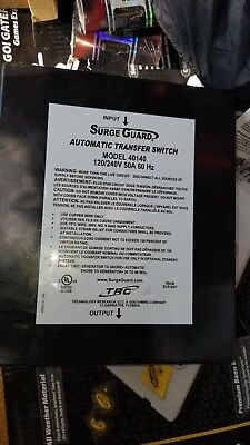Surge Guard 40140 Amp 120/240V Automatic Transfer Switch