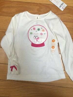 Gymboree Cheery All The Way Westie puppies Wreath Green Tee Size 3T NWT