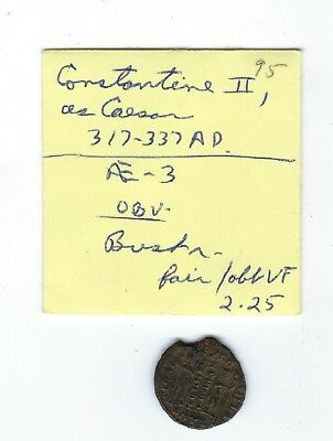 RARE COLLECTIBLE COIN Ancient Imperial ROMAN Constantine II c. 317-337 AD