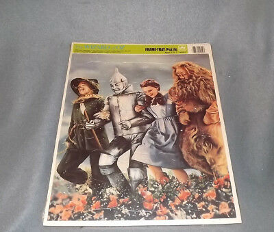 The Wizard Of Oz Golden Frame Tray Puzzle Dorothy Lion Tin Man