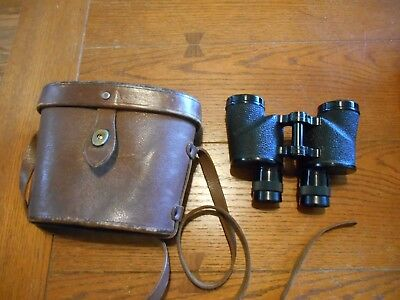 BAUSCH LOMB BINOCULARS U.S ARMY R.L.B. & LEATHER CASE  6x30