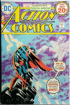 * ACTION Comics 440 (NM 9.4) 1st MIKE GRELL artwork SUPERMAN 20c NICK CARDY *