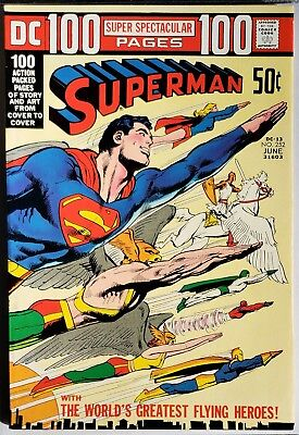 SUPERMAN 252 (NM 9.2) DC 100 Page Super Spectacular DC-13 NEAL ADAMS wraparound