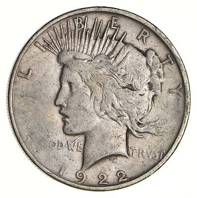 Early - 1922-D - Peace Silver Dollar - 90% US Coin *112