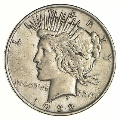 Early - 1922 - Peace Silver Dollar - 90% US Coin *116