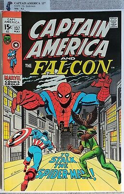 * CAPTAIN AMERICA 137 (NM 9.0+) SPIDER-MAN crossover ORIGINAL Owner Collection *