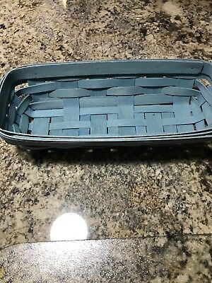 Longaberger Blue Cracker Basket 2006
