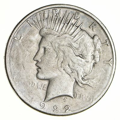 Early - 1922-S - Peace Silver Dollar - 90% US Coin *133