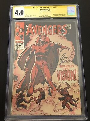 Avengers #57 CGC 4.0 Signed By Roy Thomas 1st appearance of Vision Stan Lee 1968