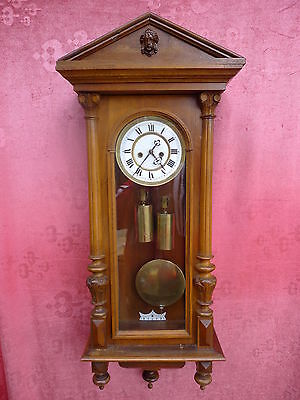 Beautiful,Antique Pendulum Clock __Regulator_ with and 2 Weights__Viennese