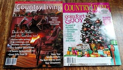 LOT of TWO (2) Country Living Magazines ~ Christmas 1998 & 2008, Crafts, Antique