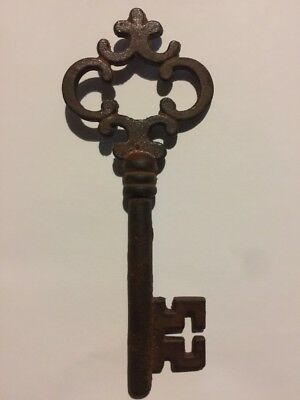Victorian Master Cast Iron Skeleton Key Vintage Antique style Heavy Cast fr/g