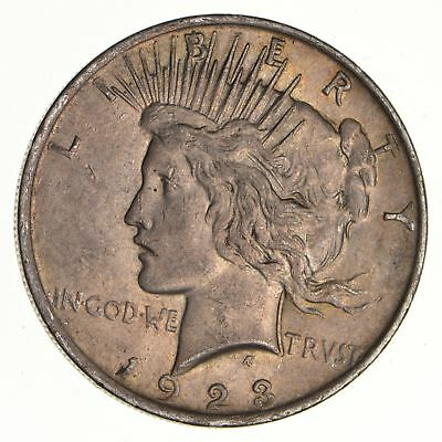 Early - 1923 - Peace Silver Dollar - 90% US Coin *558
