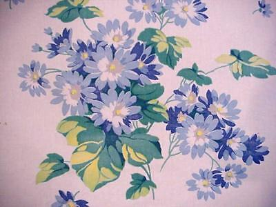 Vintage '50's WILENDUR Floral Runner BLUE WHITE Cineraria Flowers LACE TRIM Nice