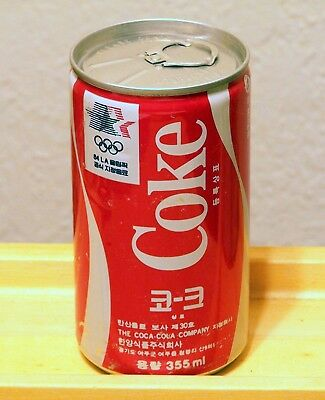 "**vintage COCA-COLA Japanese ""1984 LA Olympics"" soda can from Tokyo Japan"