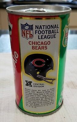 Canada Dry Ginger Ale Soda Can Chicago Bears 1976 NFL Football League 28
