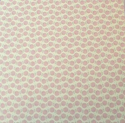 """2 Sheets Of Craft 8""""x 8"""" Scrapbooking Or Card Making Paper Mini Flowers"""
