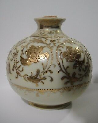 Nippon Gold Gilt Perfume Vanity Bottle Early 1900's