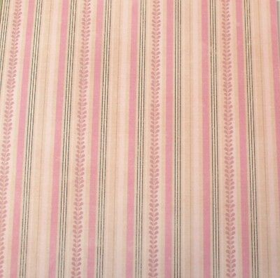 """2 Sheets Of Craft 8""""x 8"""" Scrapbooking Or Card Making Paper Striped Leaves"""