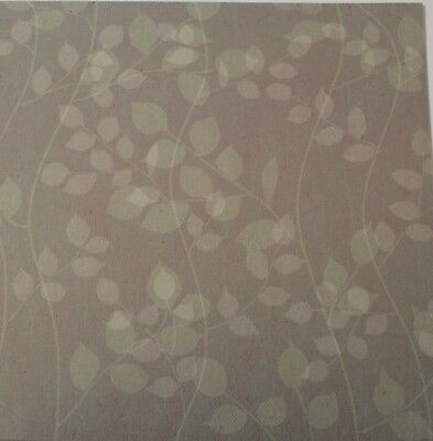 """2 Sheets Of Craft 8""""x 8"""" Scrapbooking Or Card Making Paper Leaves Branches"""
