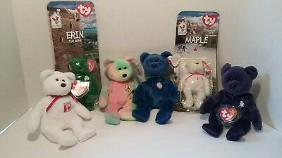 5cdeeee5a3c RARE MAPLE AND Erin McDonald s TY Beanie Baby Bears w  Date Errors + ...