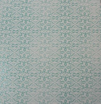 """2 Sheets Of Craft 8""""x 8"""" Scrapbooking Or Card Making Paper Glaze Effect Pattern"""