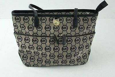 2228cbfbe330 ... where can i buy michael kors 38f5gkpt2q kempton signature monogram medium  pocket tote purse a4ce2 76a9b