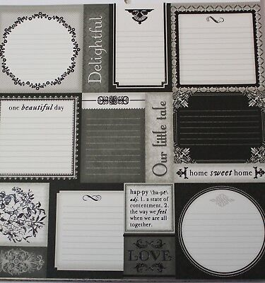"""2 Sheets Of Craft 8""""x 8"""" Scrapbooking Or Card Making Paper Small Multiple Tags"""