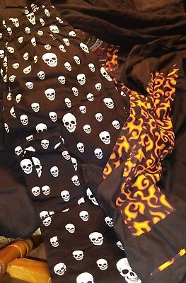 Chef Uniform  Skulls And Flames Large + Plain Blk  1 Never Worn