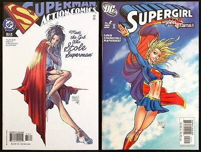 Supergirl #2 Action Comics #813. Michael Turner two pack!