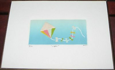 """Rocio  Artist """"Libre"""", hand Signed Etching 33/100"""