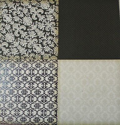 """2 Sheets Of Craft 8""""x 8"""" Scrapbooking Or Card Making Paper Small Multiple Square"""
