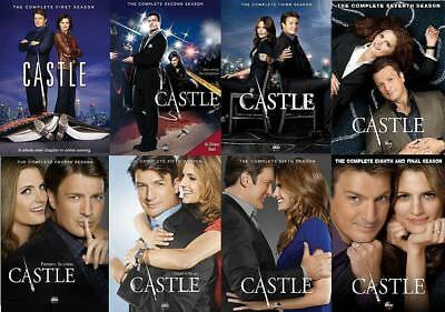 CASTLE the Complete Series on DVD Seasons 1-8 - Season 1 2 3 4 5 6 7 & 8 NEW!!!
