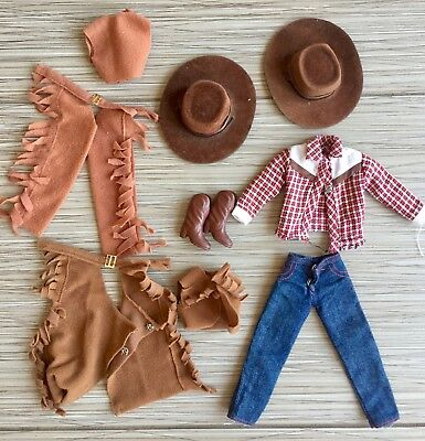 Sindy Doll - Western / Cowgirl Outfit (with extra hat & outfit) - Pedigree