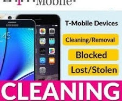 USA T-MOBILE BAD ESN IMEI CLEANING UNBARRING SERVICE- Online Service- ALL
