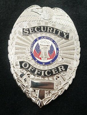 PB603 Security Officer Badge Silver Color Real Deal. Heavy Duty! FREE Shipping!
