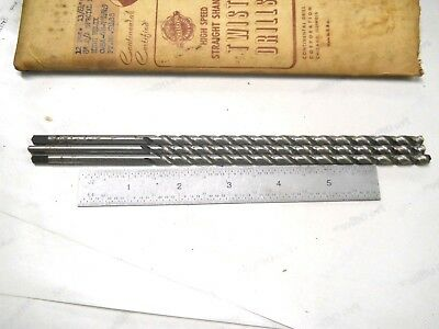 """3- New Usa Made Continental 13/64 (.2031) For 1/4-20 Tap 8"""" Length Drills"""