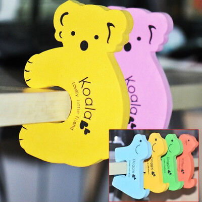 Baby Kids Safety Cartoon Door Stopper Clip Pinch Finger Hand Security 5/10X bdn