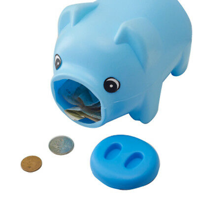 UK Lovely Plastic Piggy Bank Pig Cash Coin Money Saving Box Child Toy Kids Gifts