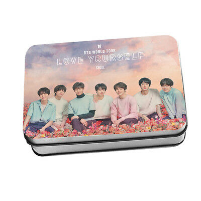 KPOP BTS Love Yourself Program LOMO CARD 40pcs Polaroid Photocards in iron box