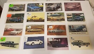 American Motors Postcard,s RARE!! Awesome L@@K 40 nice mint car postcards.