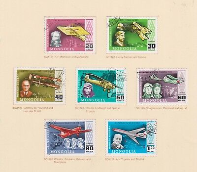 (K115-18) 1978 Mongolia 7stamps History of Aviation (R)