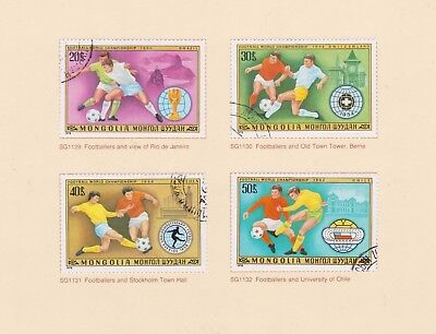 (K115-20) 1978 Mongolia 4stamps World Cup Football (T)