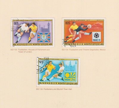 (K115-19) 1978 Mongolia 3stamps World Cup football (S)