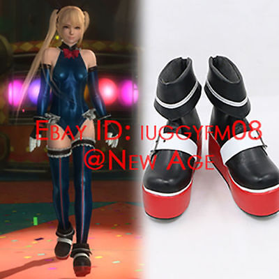 Dead or Alive 5 Ultimate Marie Rose Battle Suit Cosplay Shoes Boots