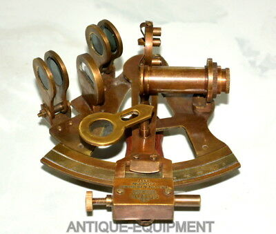 "Antique Vintage Brass Nautical 4"" Sextant Ship Astrolabe Sextant Kelvin & Hughes"