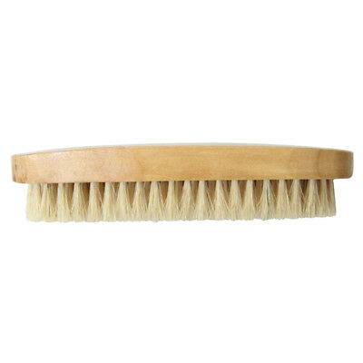 Professional Wooden Handle Bristle Hair Brush Leather Boot Shoe Polish Brush