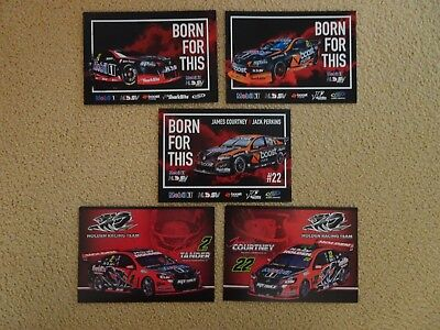 5 V8 Supercars Holden Racing Team HSV HRT Drivers Cards Bathurst Tander Courtney