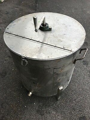 Stainless Steel Mixing Tank 80 litres. Ideal for Biodiesel, Brewing, Chemicals